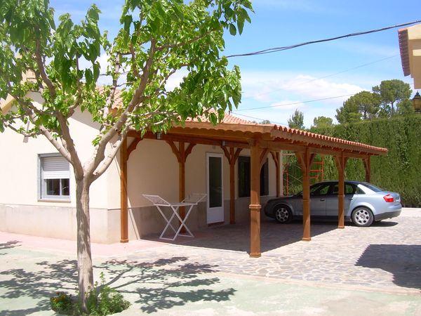 Fabricantes de garajes de madera en alicante murcia albacete y resto de espa a - Pergolas para garajes ...