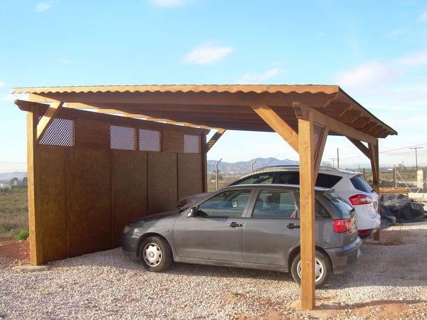 Fabricantes de garajes de madera en alicante murcia - Pergolas para garajes ...